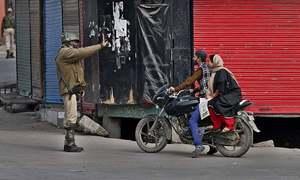 Curfew in held Kashmir