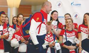 Russia's depleted Olympic contingent off to Rio