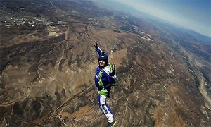 Daredevil skydiver becomes first person to freefall and land without a parachute