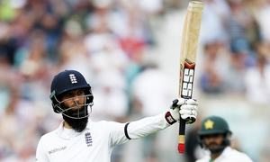 Oval Test: Moeen's ton takes England to 328