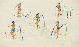 Russia win fifth successive rhythmic gymnastics team gold