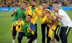 Brazil includes seven Olympics champions in World Cup Qualifiers squad