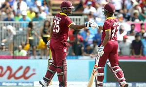 Windies pile up third highest international T20 total