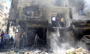 At least 15 civilians killed in attack on rebel-held Maadi district of Syria