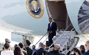 'This is our country', shouts Chinese official as Obama lands