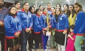 Wapda rout HEC to retain women's volleyball title
