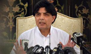 Little progress made in Quetta blast probe: Nisar
