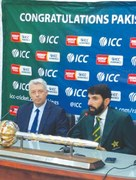 Proud Misbah receives ICC Test mace, credits teamwork for historic feat