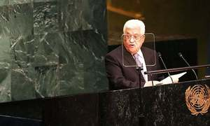 Israel destroying two-state solution hopes: Palestinian president to UN