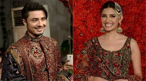 Ali Zafar and Mahira Khan walk as showstoppers for Bollywood couturier, Diva'ni