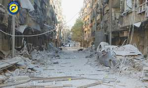 Apocalyptic scenes in streets of ravaged Aleppo