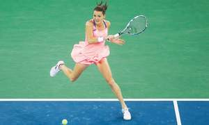 Halep overpowers Keys to reach Wuhan semis