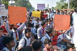 Candidates put up strong protest at 'flawed marking'