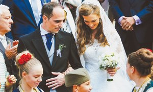 Faded royals hold rare Serbian wedding