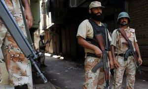 Three suspected terrorists killed by Rangers in Karachi's Ittehad Town