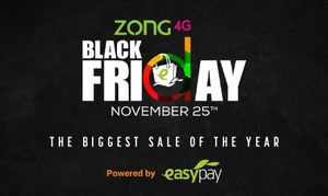 Zong Black Friday, the biggest sale event of the year, starts midnight tonight