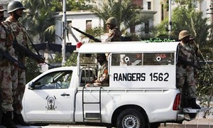 Rangers official injured in roadside blast outside Sindh Agriculture University