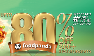 Foodpanda's #DontCook brings up to 80% off on 200+ restaurants