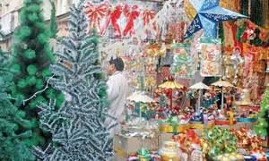 نئے سال اور کرسمس کی آمد: بازاروں کی رونق میں اضافہ