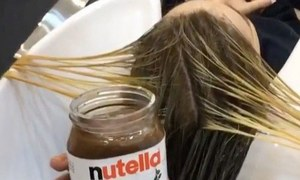 نیوٹیلا، گاڑھے دودھ کا بال کلر کرنے کیلئے استعمال