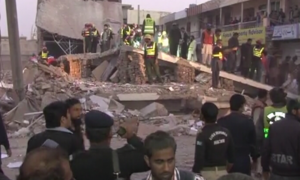 At least 1 dead as under-construction building collapses in Multan