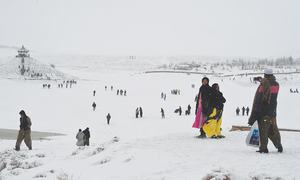 Countrywide cold snap as Quetta valley shivers in eight-inch blanket of snow