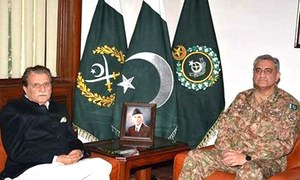 Army assures Azad Jammu and Kashmir PM of preparedness for all types of threats