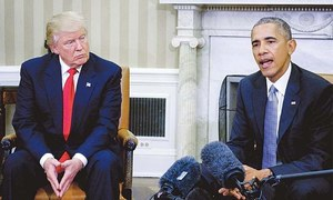Don't give up two-state solution, Obama tells Trump