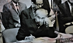 Zulfikar Bhutto: Closely watched by the Pakistan army