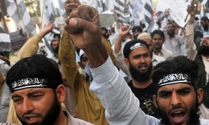 JuD takes to streets against possible ban