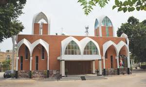 A street where Muslims and Christians worship side by side