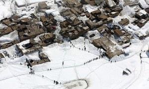 چترال: برفانی تودہ گرنے سے 14 افراد ہلاک
