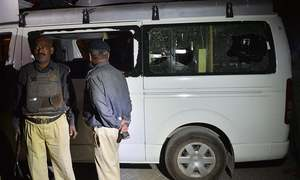 Samaa TV DSNG van attacked in Karachi, one dead