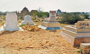 No space for the dead: Historical Chowkandi graveyard bears the burden