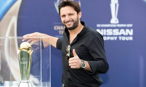 Shahid Afridi launches ICC Champions Trophy tour