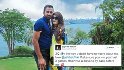 Wahab Riaz and his wife have a Twitter spat about which PSL team she should support