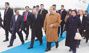 Sharif arrives in Ankara on three-day visit