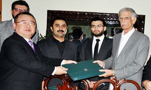 Khyber Pakhtunkhwa inks $20bn deals with Chinese companies