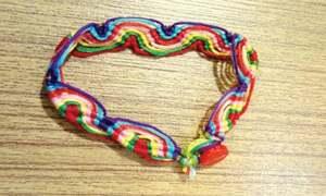 Wavy rainbow bracelet