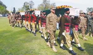 Five troops, 15 militants die in border attack