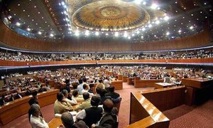Allies 'embarrass' govt in NA ahead of crucial vote