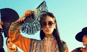 This season's must-have accessories, according to Pakistani lawn ads