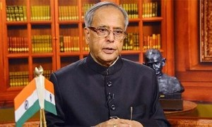 Indian President Mukherjee greets Pakistanis on national day