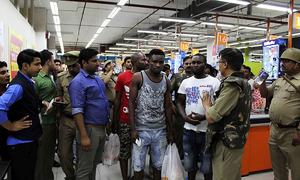 Indian police arrest five over attack on Africans