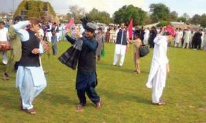 In unison, Pakhtun youth hold Attanr dance for peace