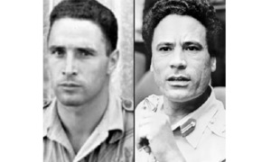 Was Qadhafi the son of a French pilot?