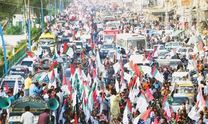 MQM-P holds big rally to 'seek rights for people of Karachi'
