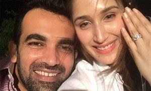 ظہیر خان کی شاہ رخ کی ساتھی اداکارہ سے منگنی