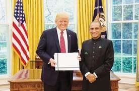 Envoy presents credentials to Trump
