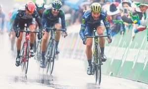 Albasini wins Romandie stage, Felline retains lead